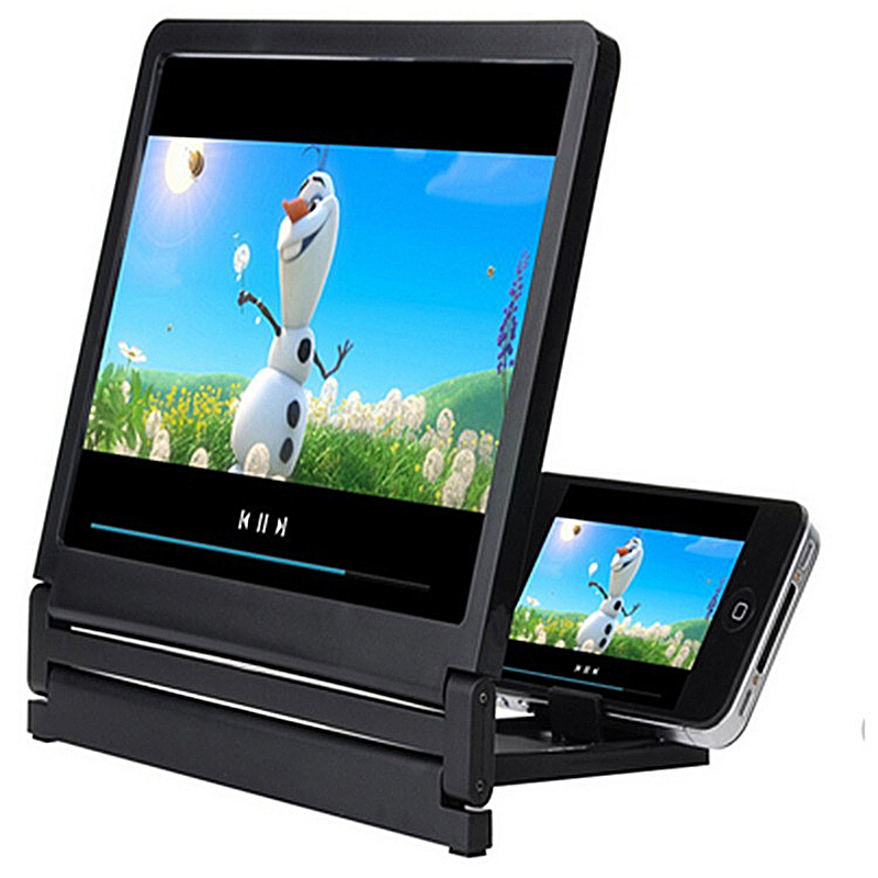 2019 NEW 3D Video Screen Amplifier Mobile Phone Screen Magnifier Eyes Protection Display Folding Enlarged Expander Stand Holder