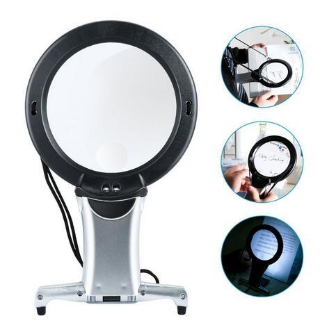 Hände Frei LED lupe Beleuchtete Leselupe Neck Tragen Qualität Lupe Für Senioren Nähen Kreuz Stich Stickerei