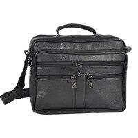 Business Mannen PU Lederen Tas Natuurlijke Mannen Messenger Bags Vintage mannen Schouder Crossbody Tas