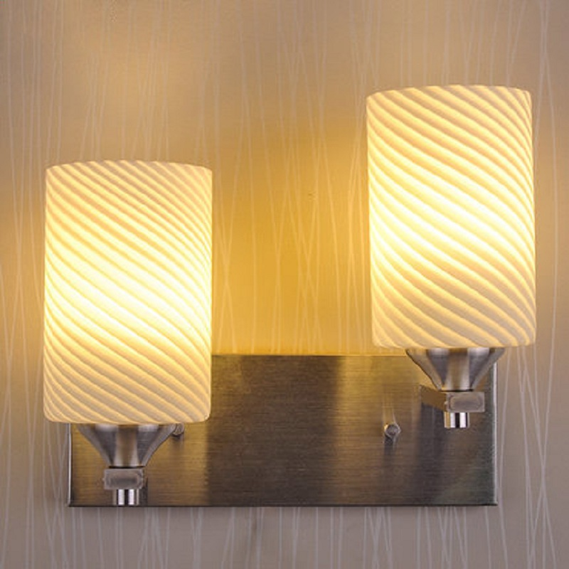 Indoor LED Wall Lamps Simple Modern Aluminum Holder Glass Shade Bedside Bedroom Living Study Room Aisle Home Decoration Lighting tuda glass shell table lamps creative fashion simple desk lamp hotel room living room study bedroom bedside lamp indoor lighting