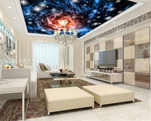beibehang High - end quality aesthetic interior wall paper cosmic fantasy sky ceiling background papel de parede 3d wallpaper