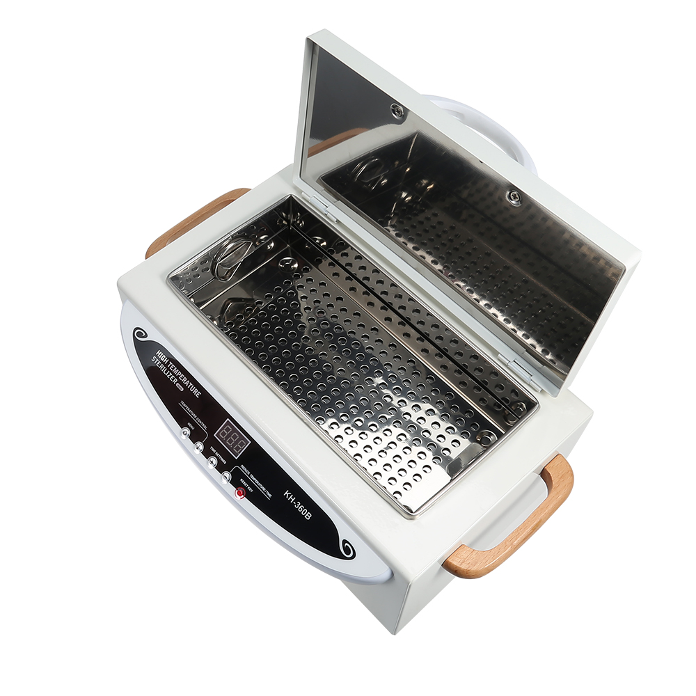 High Temperature UV Sterilizer Box Nail Art Tool Sterilizer Box With Hot Air Disinfection Cabinet Manicure Tools EU Plug 220V 5