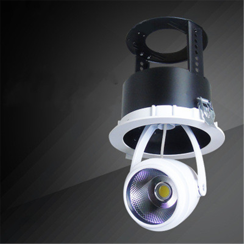 Embedded stretch bean lamp 12W/15W/20W/24W cob downlight clothing cabinet store can stretch ceiling Indoor lighting