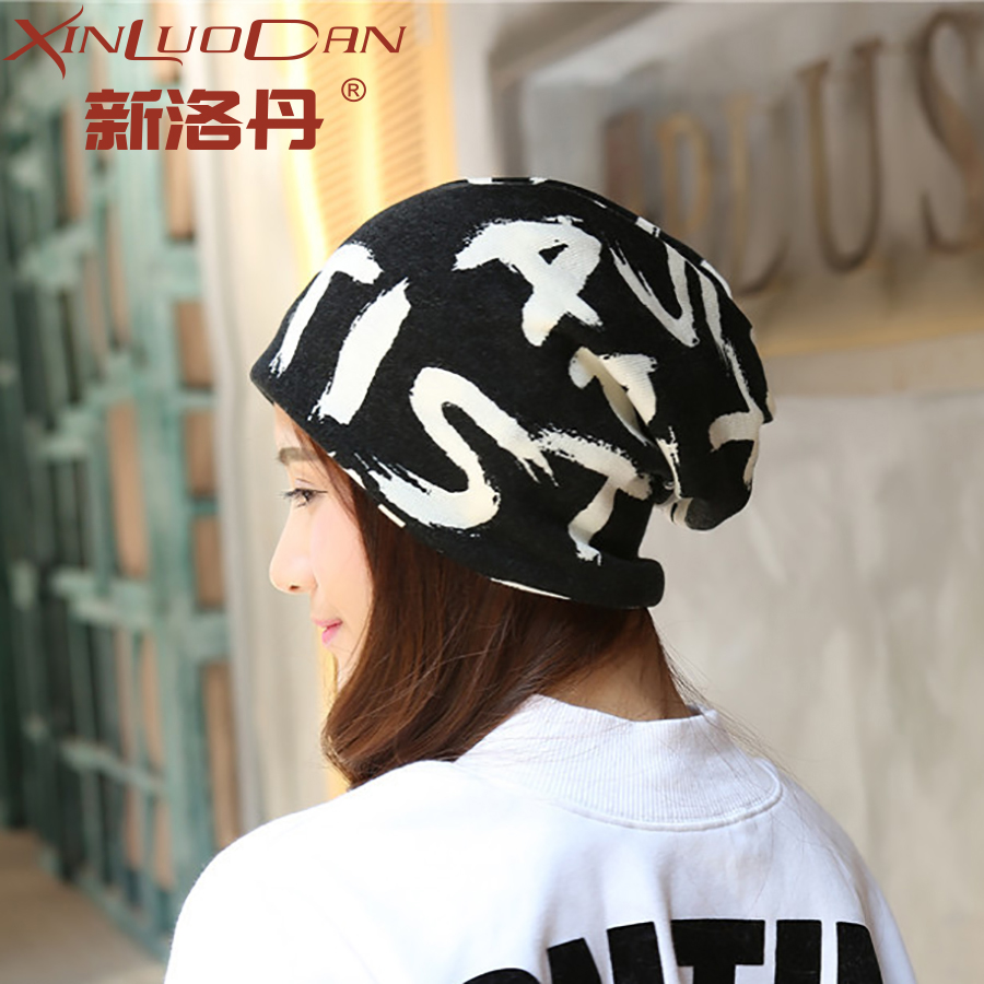 News Women Printed Letters Thin Slouch Beanies Hats Spring Autumn Unisex Men Hip Hop Hats Soft Woman Polyester Hats Gorras WH182 [jamont] love skullies women bandanas hip hop slouch beanie hats soft stretch beanies q3353