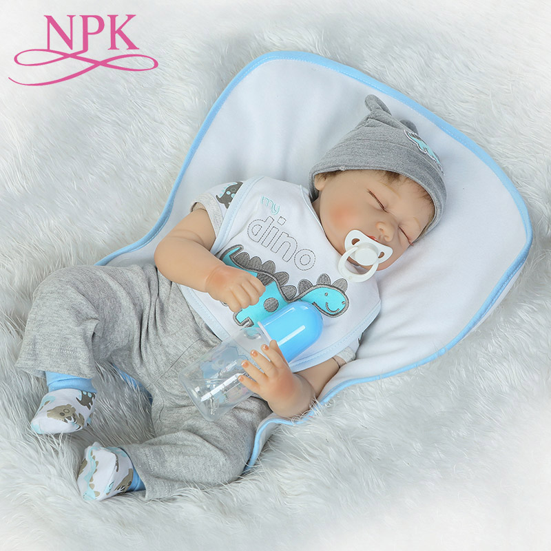 NPK 55cm Silicone Vinyl Reborn Baby Doll Children Playmate Doll Soft Real Touch Toys For Gift On Birthday And XmasNPK 55cm Silicone Vinyl Reborn Baby Doll Children Playmate Doll Soft Real Touch Toys For Gift On Birthday And Xmas