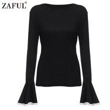Zaful O-neck Flare Sleeve Blouses