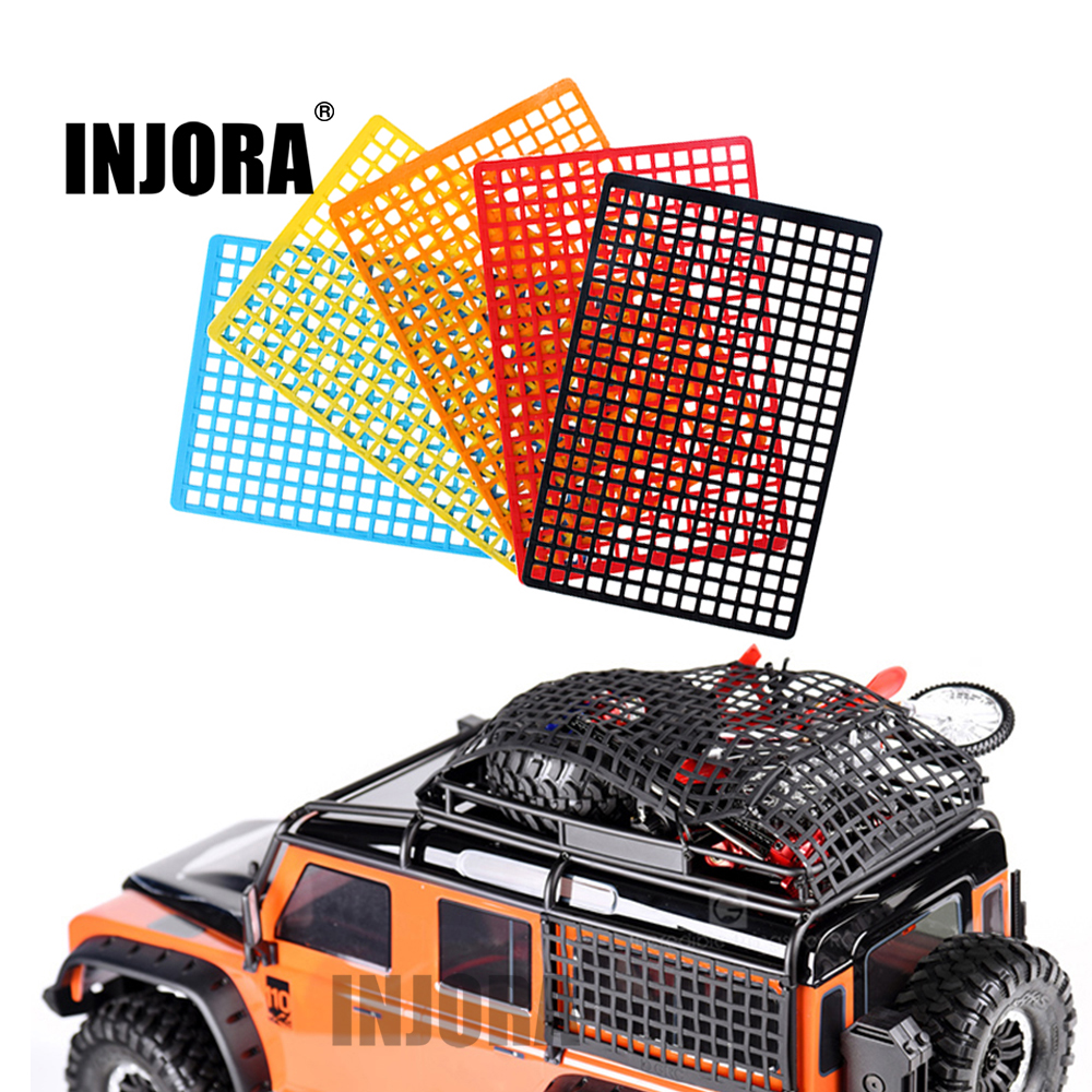 INJORA Rubber Luggage Net Window Decoration For RC Crawler Axial SCX10 90046 Wraith RR10 D90 Traxxas TRX4 Slash UDR