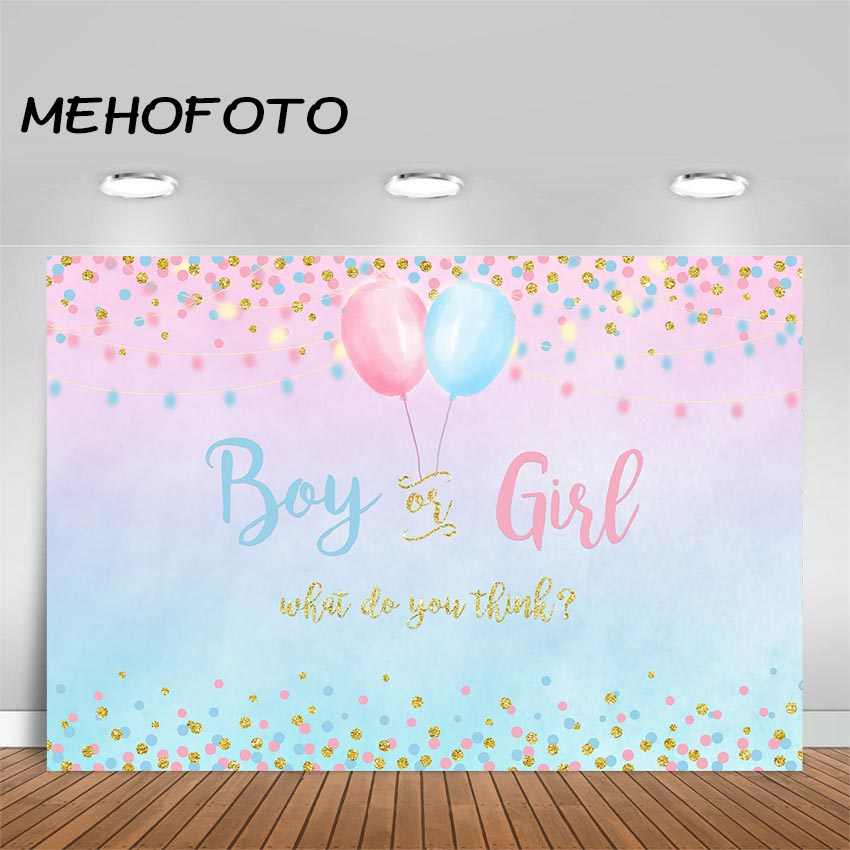 Gender Reveal 10x15 FT Photography Backdrop Girl and Baby Boy with Dogs Puppy Cute Figures Congratulations Birthday Theme Background for Party Home Decor Outdoorsy Theme Vinyl Shoot Props Multicolor