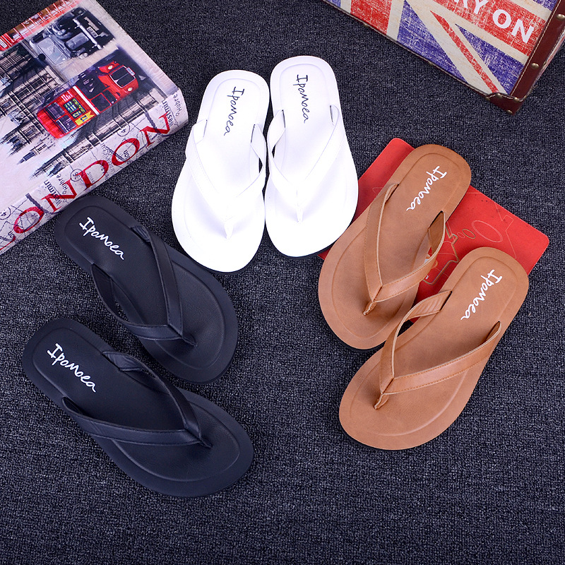 0917f9eea09 DreamShining Simple Women Leather Slippers Summer Tourist Sandals 4 Colors  Fashion Casual Flip Flops Rubber Slippers For Ladies-in Slippers from Shoes  on ...
