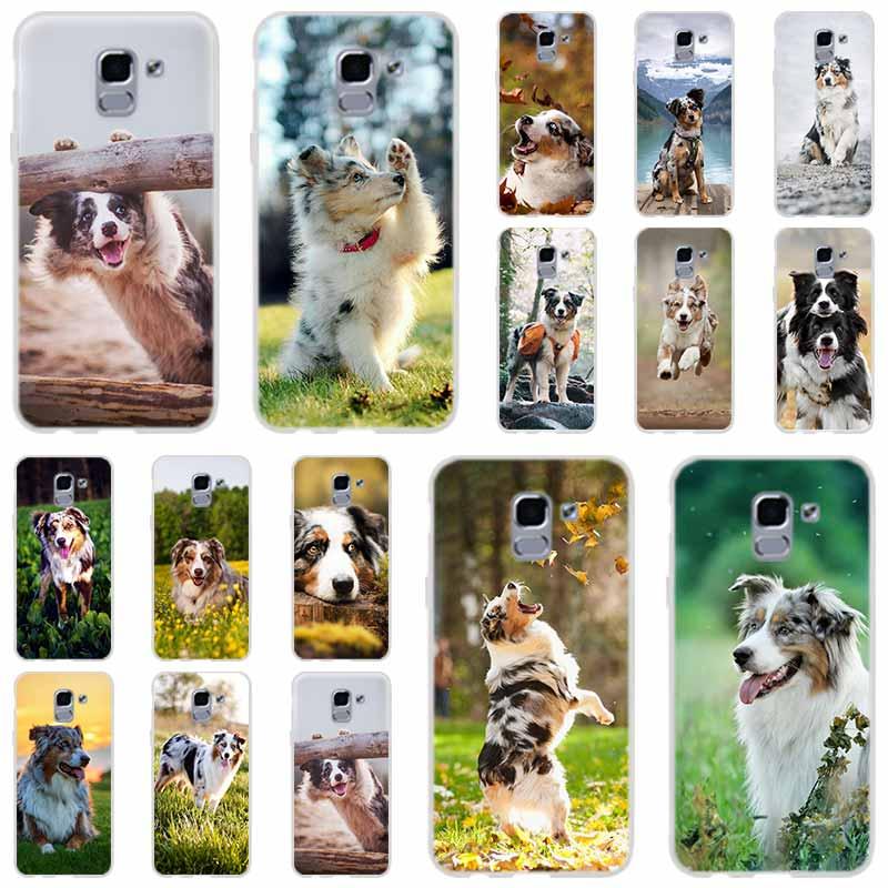 Coque de téléphone Samsung en Silicone souple, chien de berger australien, pour Galaxy j6, J8, J7, J5, J3, J4 Plus, 2018, 2017, 2016, J610 Prime