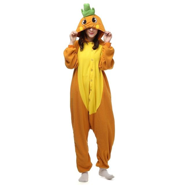 Adults Kigurumi Halloween Carnival Costumes Onesie Alien Bat Carrot Cock Dog Giraffe Rilakkuma kangaroo Koala Raccoon Skull
