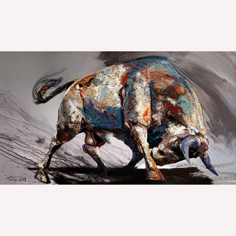 Top Artist Team Deliver High quality Modern Abstract Abstract Bullfighting Oil Painting On Canvas Top quality bullfighting oil