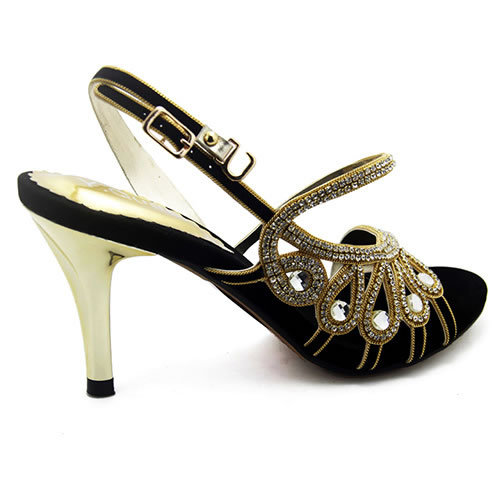 Pakistan Brand Designers Womens Sandals High Heels Summer Style 2015 Rhinestone Ladies Shoes Party Elegant Woman Black In From