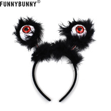 FUNNYBUNNY Eyeball Boppers LED Flashing Eyes Halloween Hairband Costume Accessories Party Supplies Favors for Kids