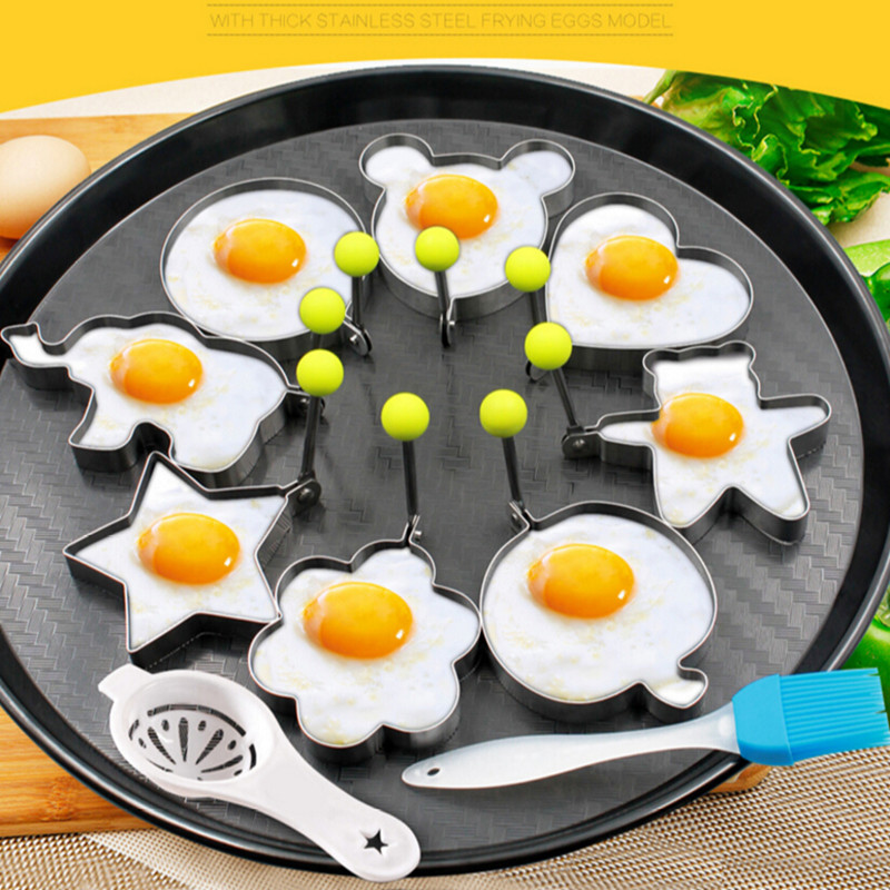 To encounter 10PCS Stainless Steel Egg/Pancake Ring Omelette Mould Device Egg Form For Frying Eggs Tools Kitchen Appliances
