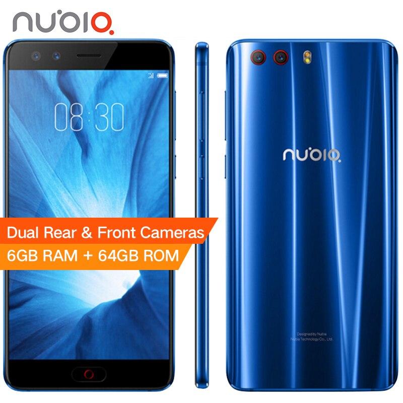 D'origine Nubia Z17 Mini S 6 GB 64 GB Mobile Téléphone 5.2 MSM8976 Pro Octa base Android 7.1 Double Caméras Arrière Avant D'empreintes Digitales