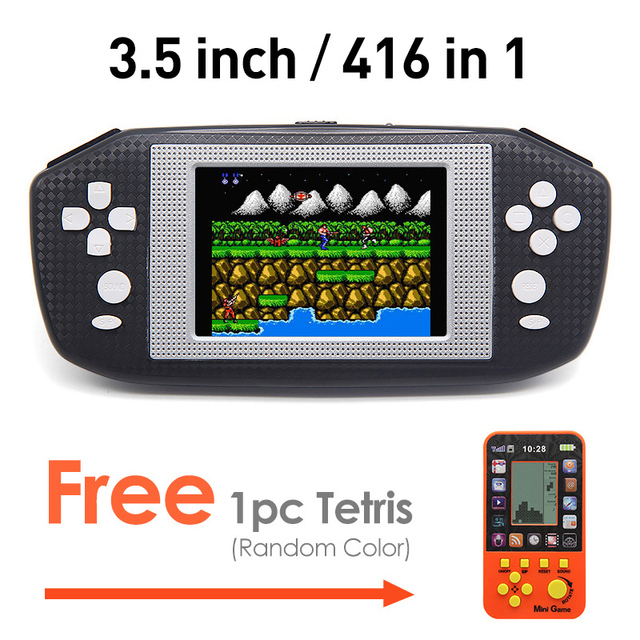 35 inch game handheld lcd screen video game console built in 416 retro games console