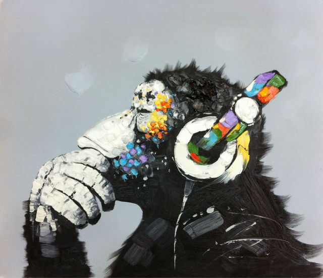Aliexpress.com : Buy Thinking Monkey Handpainted High Quality ...