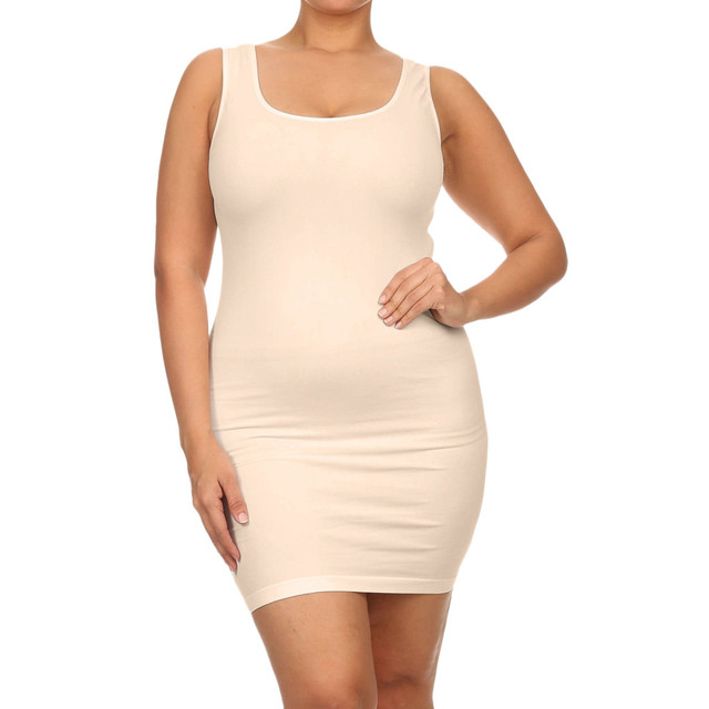 plus size dresses for women 4xl 5xl 6xl party bodycon dress elegant midi O-neck Solid Color Sleeveless sexy dress women club#G6 2