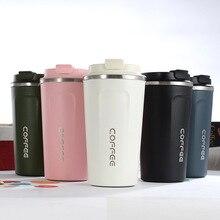 Yeni stil çift paslanmaz çelik 304 kahve kupa araba termos kupa Leak_Proof seyahat termos kupa Thermosmug hediyeler için