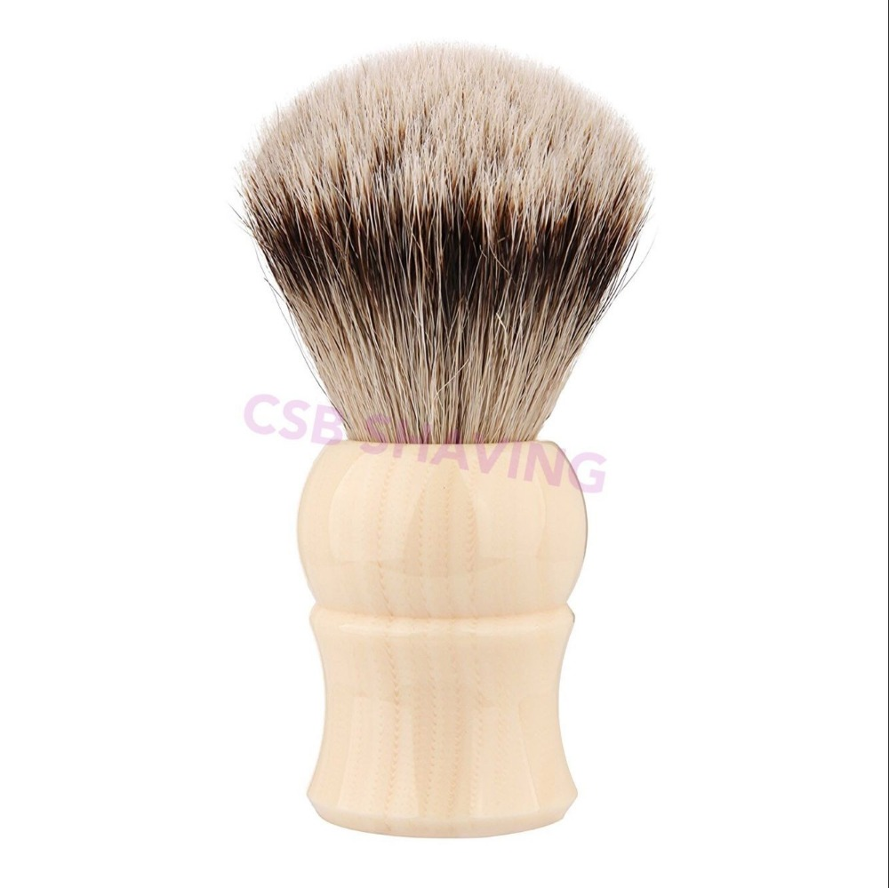 CSB High Quality Faux Ivory Silvertip Badger Hair Knot 20mm Shaving Brush Mustache Beard Professional Shave Wet Tool