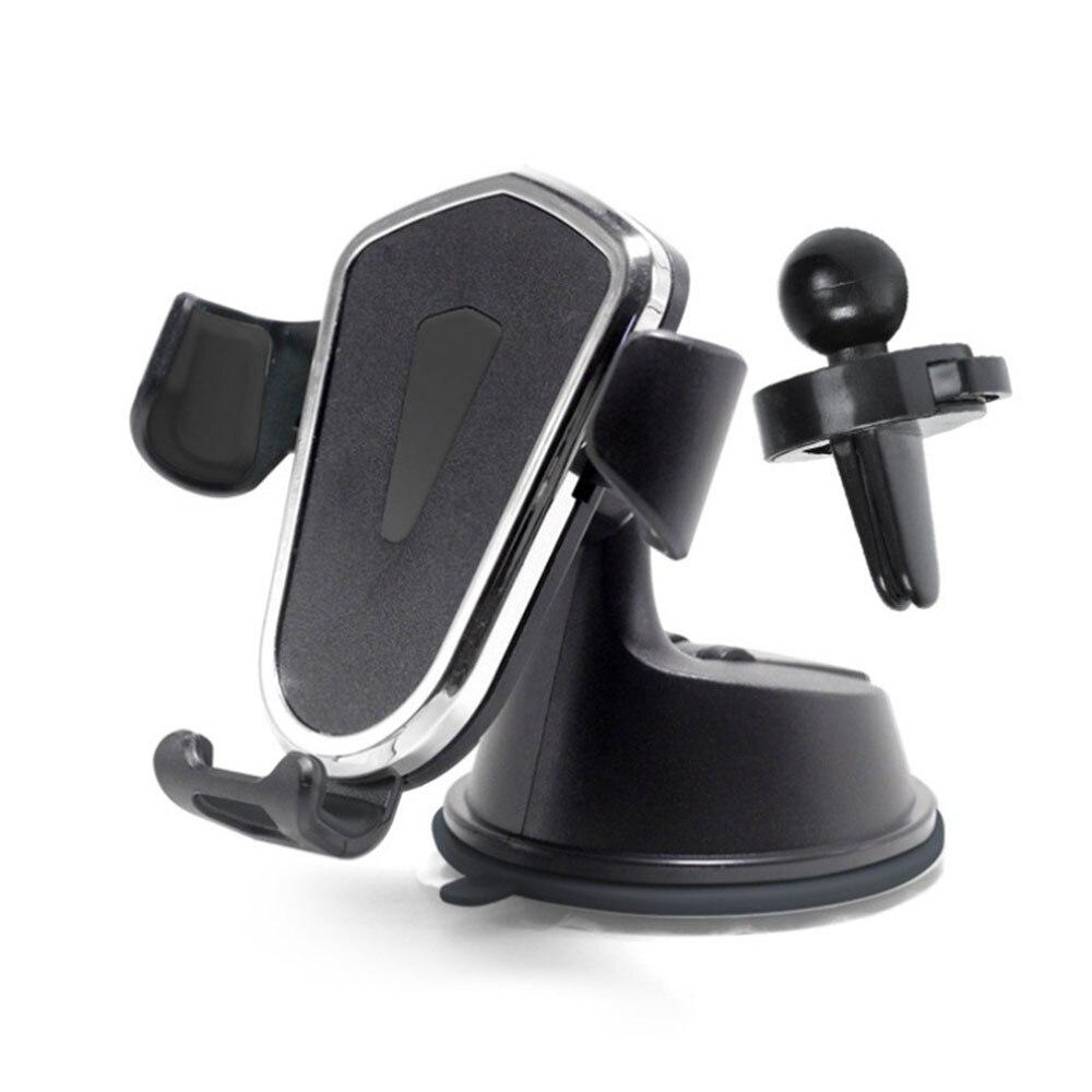 Vehemo Автомобильный держатель для крепления на авто 2в1 автомобильный держатель с gps Держатель для смартфона Регулируемый навигационный Автомобильный держатель для телефона - Цвет: Black