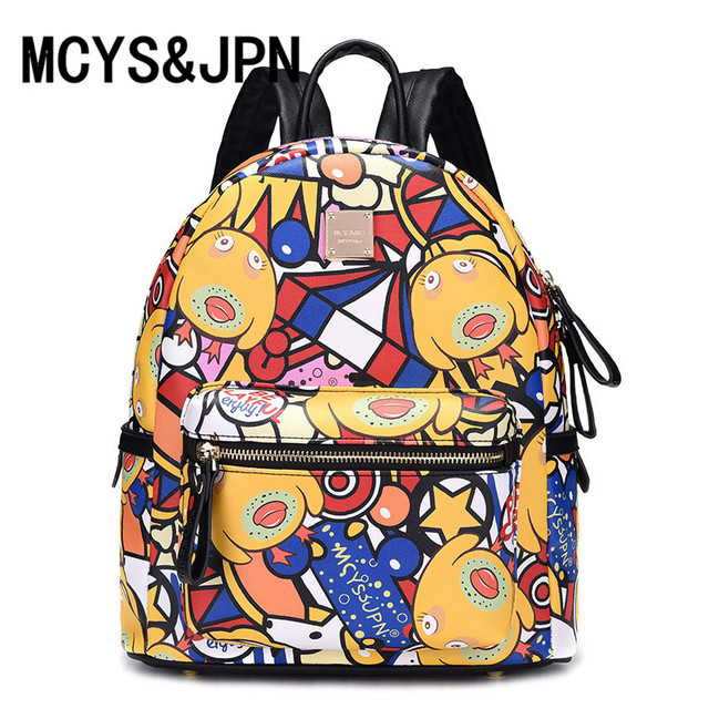 08866f02b837 MCYS JPN Women Creative Dogs Backpack Female Fashion Girls School Bags for  Teenagers Laptop