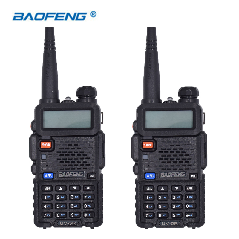 2PCS Hot Portable Radio Baofeng UV-5R two way radio Walkie Talkie pofung 5W vhf uhf dual band baofeng uv 5r