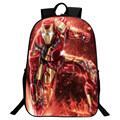 Wholesale Hot Oxford 16-Inch Printing Cartoon Iron Man Black Teenagers Backpacks Kids Baby School Bags for Children Bookbag Boys