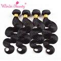 Brazilian Body Wave Hair Weaves 4Pcs Virgin Brazilian Human Hair Bundles Cheap Natural Black Wonder Beauty Hair Extensions