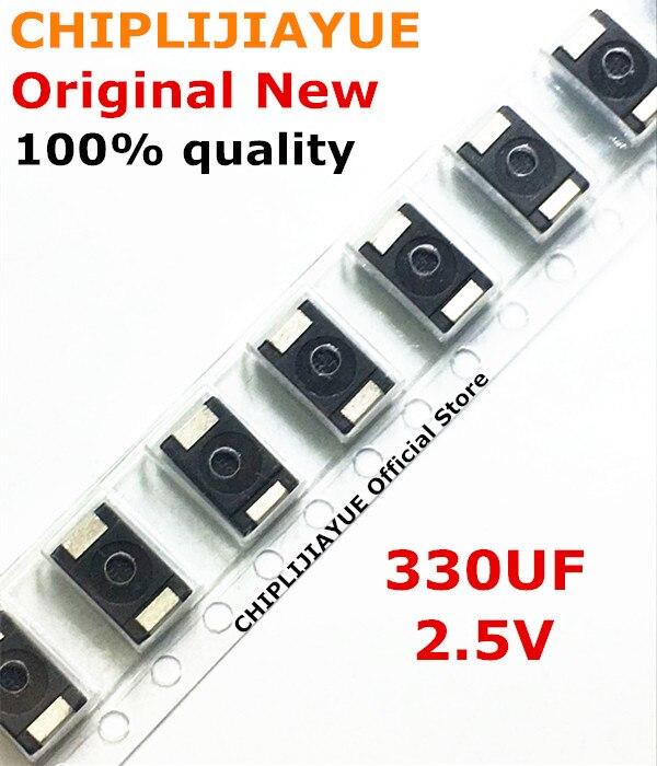 300piece 100 New 2R5TPE330M9 330UF 2 5V 330 SMD Tantalum Capacitors Polymer POSCAP Type D