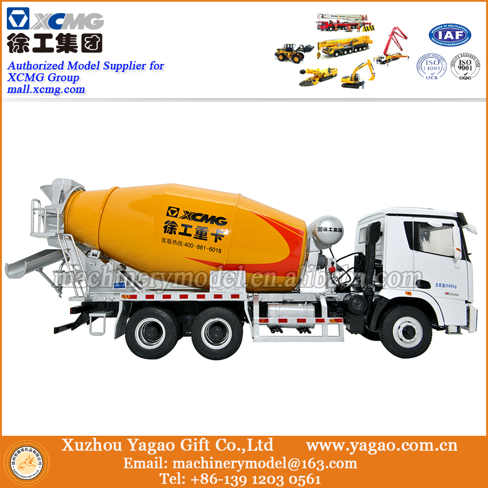 1:24 Scale Diecast Construction Car Model, XCMG Concrete Mixer Truck Scale Model, Corporation Gift green 1 24 scale foton lovol m2104 k tractor diecast model truck alloy toy m2104k