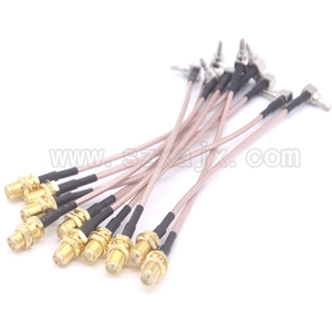 Image 3 - RUS Stock 10PCS RF Pigtail Cable SMA female to TS5/CRC9 right angle RG316 cable For 3G Modem 15cm Russia fast shipping 3 15day