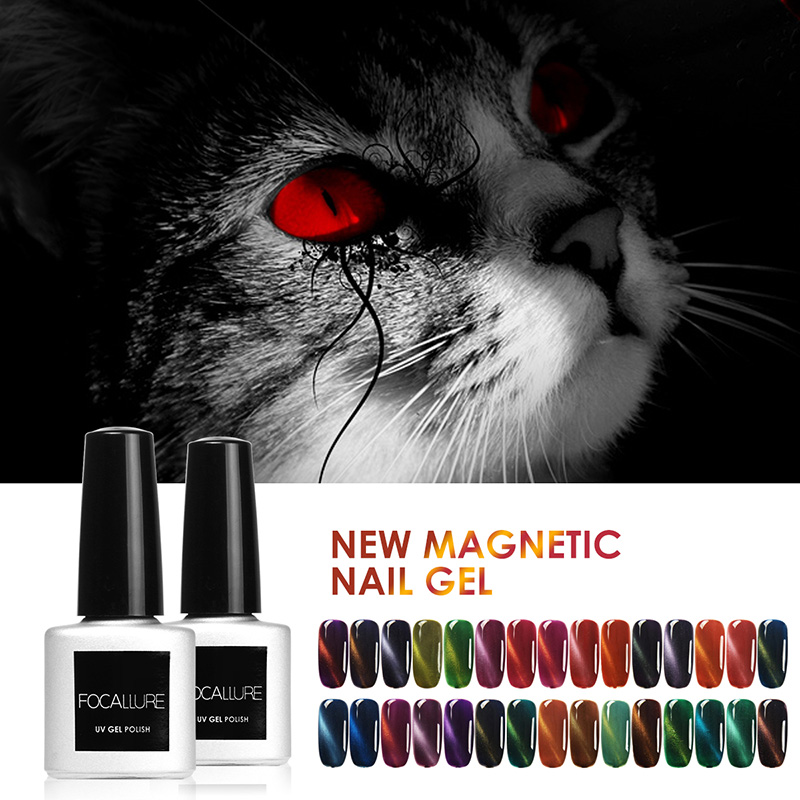 Focallure Nail Art Nail Gel Magnetic Cat Eyes Gel Polish LED UV Soak off Gel Lacquer Magnet Gel Nail Polish