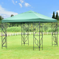 Goplus 10' X10' Gazebo Canopy Shelter Patio Wedding Party Tent Outdoor Garden Awning Portable Green Canopy Tent OP3179
