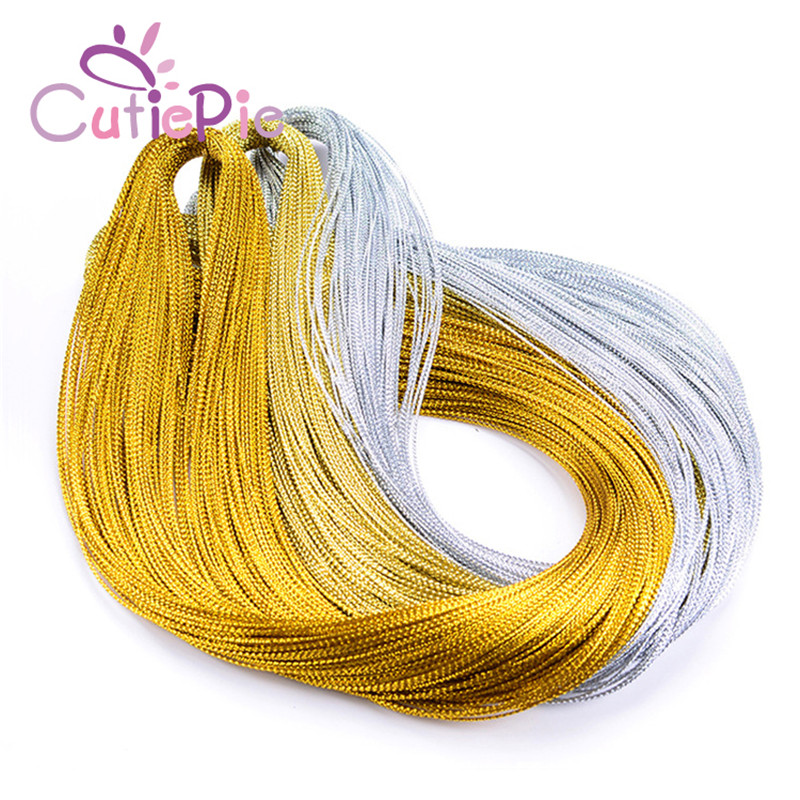 CUTIEPIE Label Rope 100M 3Exquisite Wedding Gift Packaging Party Favour Decoration Metallic String Round Cord Hang Tag Ties