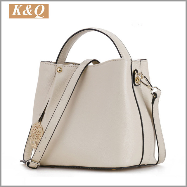 Sac A Main Brand Genuine Leather Handbags Simple Style Bucket Bags Shoulder Bag Carpisa Bolsas