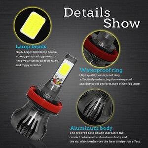 Image 4 - Ampoule de voiture anti brouillard, lumière blanche, bleue ou jaune, pour le jour, H8 H9 H11 H3 880 881 H27 LED, 12V 55W