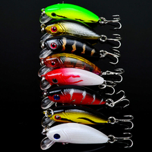 New 48pcs lot Fishing Lures Mixed 5 Model Minnow Lure Artificial Quality Professional Crankbait Wobblers Fishing Tackle pesca