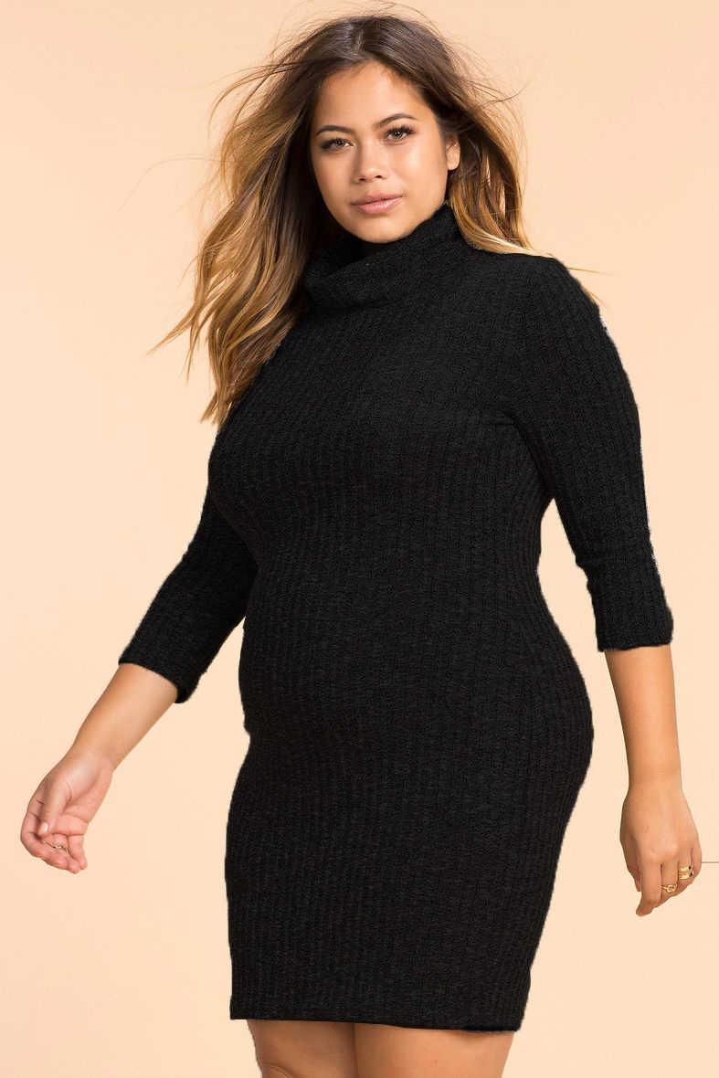 aa01091e816 ... 2018 осеннее вязаное вечерние платье большого размера женское платье  большого размера облегающее Бандажное платье большого размера ...