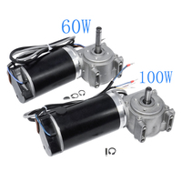 DC Worm Gear Motor 24V 60W 250RPM 100W 220RPM With Gearbox And Intelligent Encoder Electric Door Motor For Hotel Automatic Door