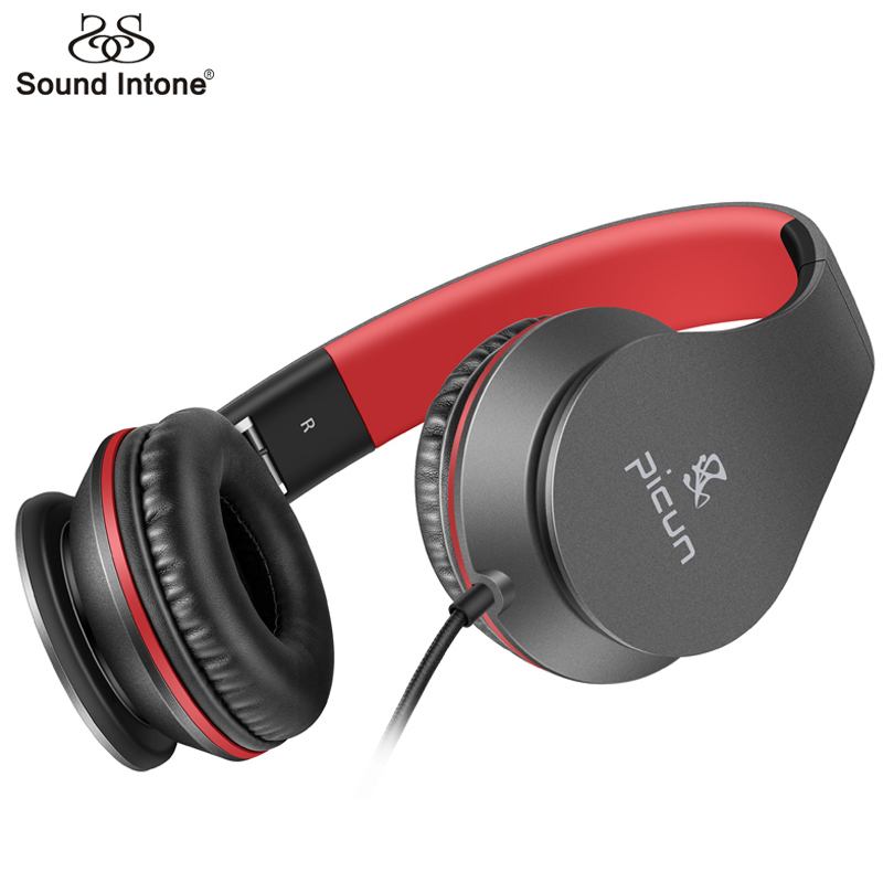 Sound Intone C16 Wired Headphones Over-Ear Bass Game Headsets with Stereo Built-in Microphone 3.5mm for Xiaomi for iPhone MP3 PC merrisport bluetooth headphones with microphone over ear foldable portable music bass headsets for iphone htc cellphones laptop