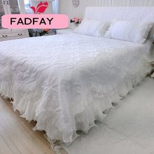 FADFAY Home Textile Quilted Bedspread Quitled Bedding Sets Custom Made Beautiful Comforters Sets Patchwork Quilt Quilted Set