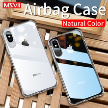 все цены на Msvii Clear Case For iPhone X XS Max XR Cases Transparent Airbag Buffer Full Protection Back Cover For iPhone 6 7 8 Plus онлайн