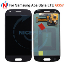 Süper AMOLED LCD için Samsung Galaxy Ace 4 SM G357 G357 G357FZ Ace4 LCD ekran dokunmatik ekran Digitizer meclisi ile beyaz /gri