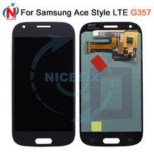 SUPER AMOLED LCD para Samsung Galaxy Ace 4 SM G357 G357 G357FZ Ace4 pantalla LCD con pantalla táctil digitalizador Asamblea blanco /gris
