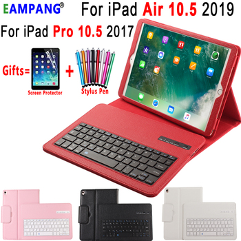 Removable Wireless Bluetooth Keyboard Leather Case Cover for Apple iPad Pro 10.5 inch A1701 A1707 Coque Capa Funda