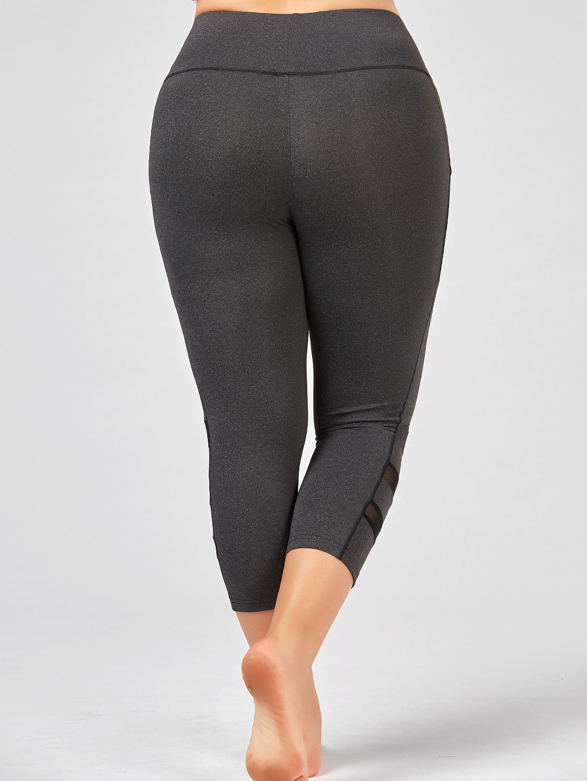 897920f5cf1ee ZAFUL Plus Size Fishnet Mesh Panel Fitness Leggings High Waist Mesh Workout  Leggings Big Booty Yoga Pants-in Yoga Pants from Sports   Entertainment on  ...