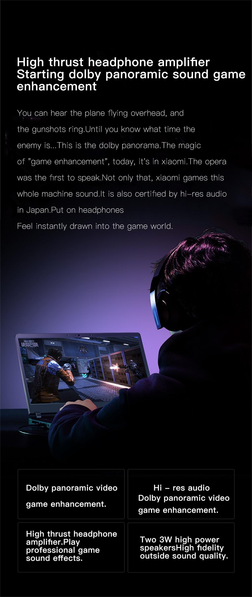 Xiaomi Mi Gaming Notebook 15.6 Intel Core 8G+1258G/16G 256GB Windows 10 Quad-core NVIDIA GeForce GTX 1060 I7-7700HQ 9