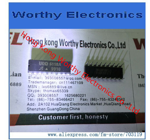 Free shipping 10pcs/lot DIP-18 UDQ6118A